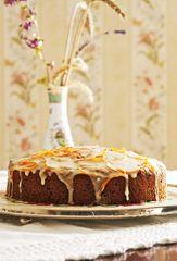 Walisischer Karottenkuchen mit Orangenglasur