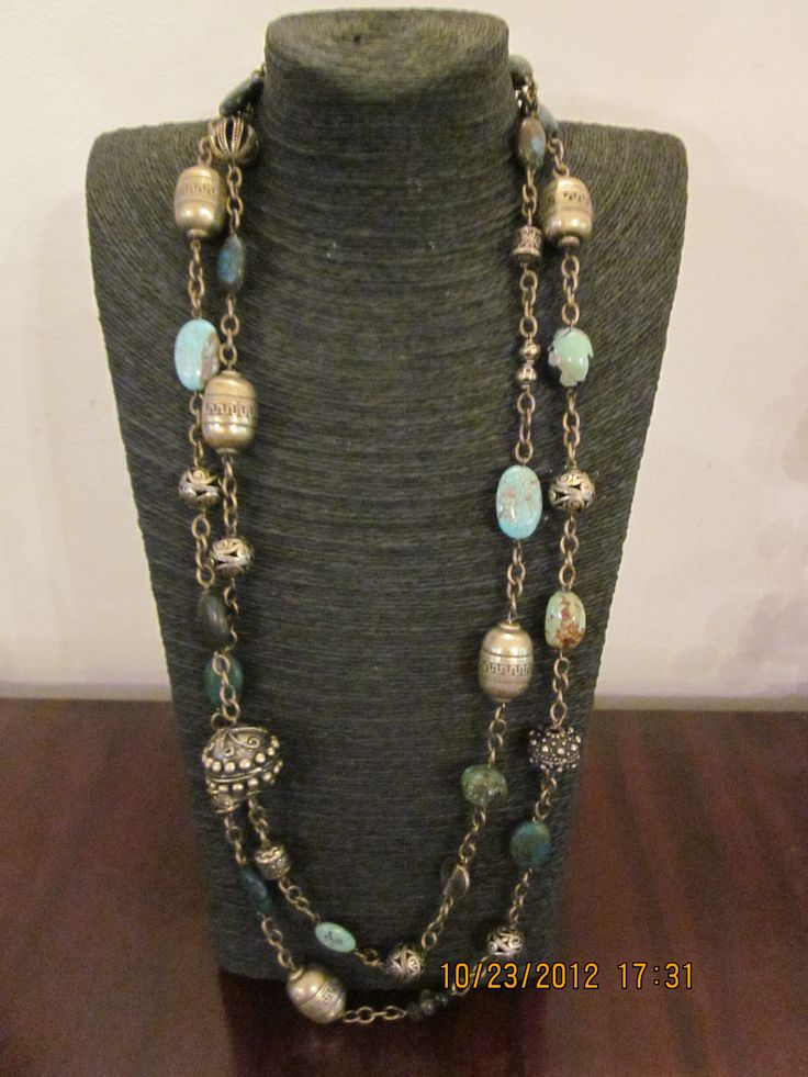 Brass and Turquoise necklace