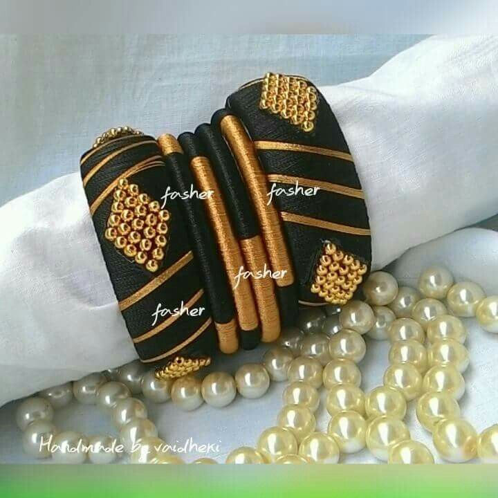 silk thread bangles - bangles wrapped with embroidery thread
