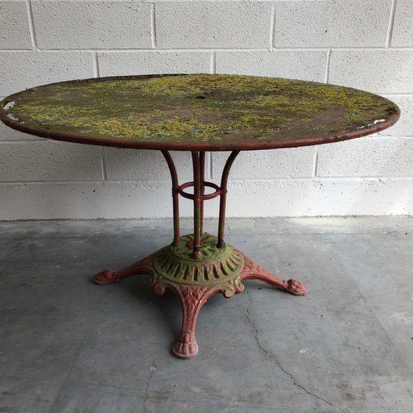 Ancienne table de jardin en métal - Nord Factory   Table de ...