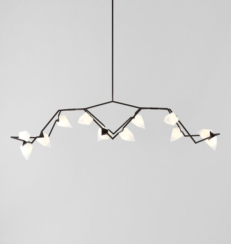 Seed 03 Chandelier (Blackened brass/White). Designed by Bec Brittain for Roll & 21 best Seed images on Pinterest | Seeds Pendant lighting and All ...