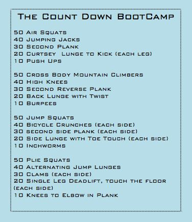 It has been quite awhile since I took the time to put together a new boot camp workout.  I'm super excited about this workout - it will be a test for all fitness levels. Make sure you start wi...