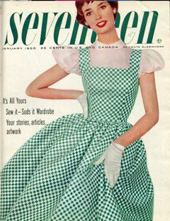 Delores Hawkins, a fifties singer, rocked this green gingham dress on our January 1955 cover.