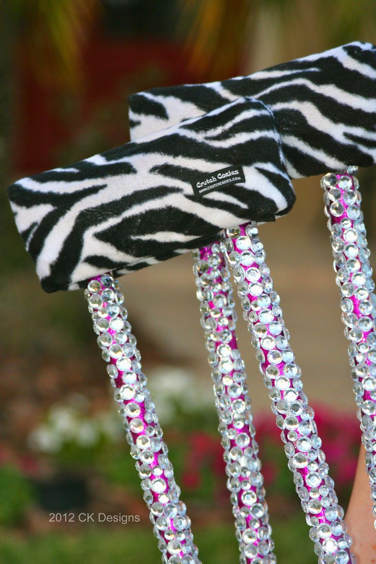 @Vanessa Striefsky: When Life Gives You Lemons, BEDAZZLE IT! (or, How To Bling Out Your Crutches)