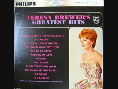 "Teresa Brewer - ""Till I Waltz Again With You"" (1962) ...Just sway to the music...love this!"