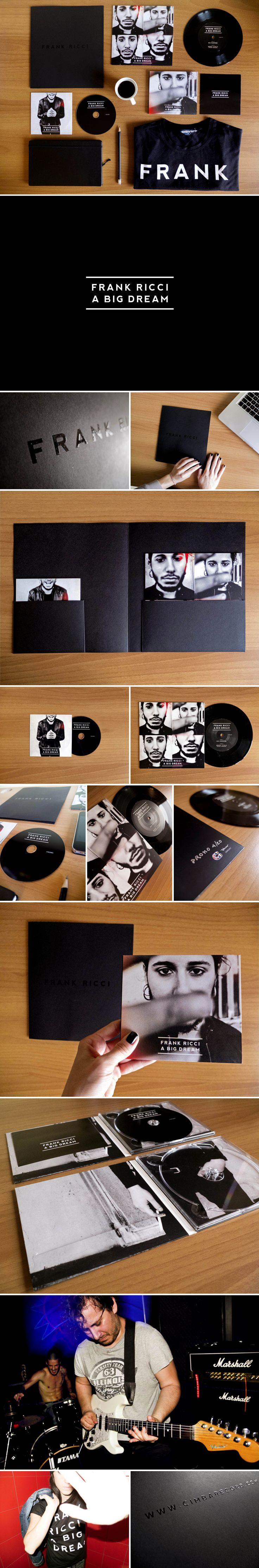 "FRANK RICCI - A BIG DREAM Vinyl 7"", CD and Limited Edition CD  Artwork Roberta Menghi Photo Henry Ruggeri Product by Cimbarecord"
