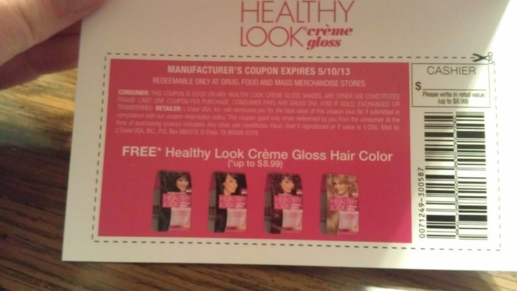 **Coupon for FREE LOreal Hair Color