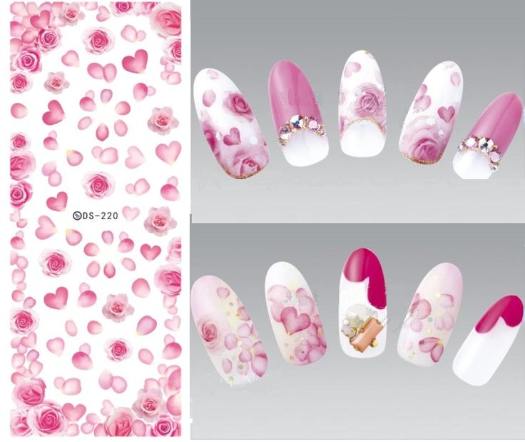 562 best decal nailart 2 images on pinterest nail designs ds220 diy nail design water transfer nails art sticker rose peony flowers nail wraps sticker watermark prinsesfo Gallery