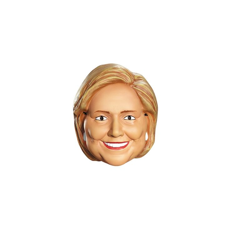 Hillary Clinton Vacuform Election Half Mask - One Size Fits Most, Adult Unisex, Tan