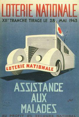 Affiche de la loterie nationale pour le tirage du 28 mai 1943