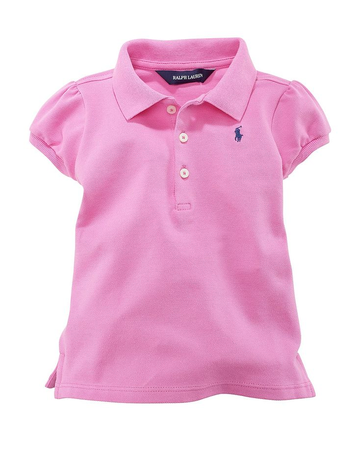 Every girl needs her go to pink back to school for Baby pink polo shirt