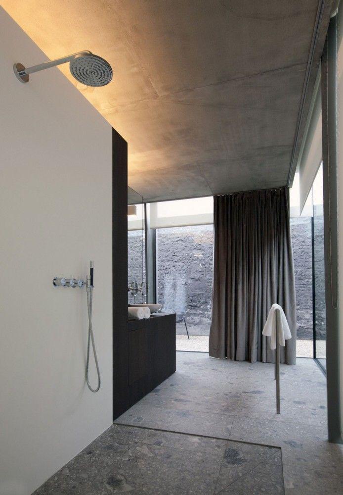 Open bathroom, Notarishuys hotel in Belgium by Govaert & Vanhoutte (© Martine Neirynck) _