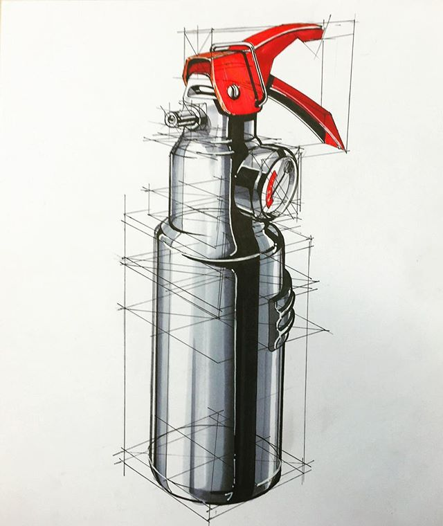 Hakan Gürsu - Fire extinguisher is a very good product sample to draw lets try it. #productdesignsketching #productdesignsketch #productdesign #mydrawing #id #illustration #sketch #sketchy #skechers #sketches #sketchday #sketching #id #idsketch #iddrawing #idsketching #marker #markers #markerart #markersketch #markerdrawing #markermasters #copicmarker #copic #copicart