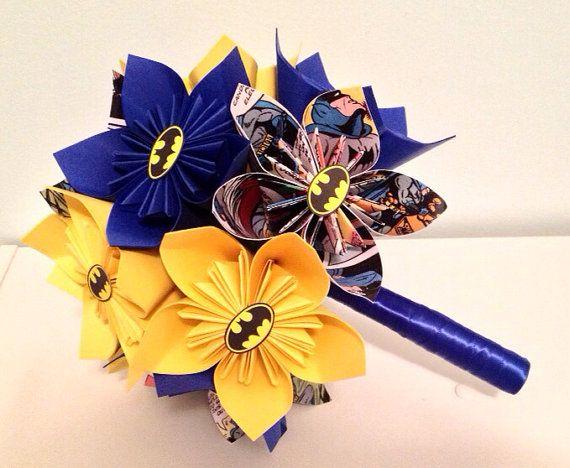 Superhero+Wedding+Bouquets+Your+Choice+of+Hero+by+NewZLynn+on+Etsy,+$50.00