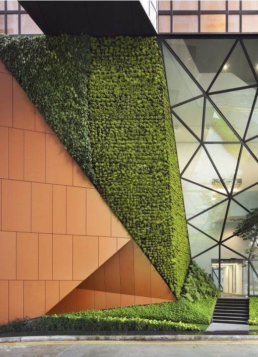 M s de 25 ideas incre bles sobre fachada verde en for Muros verdes arquitectura