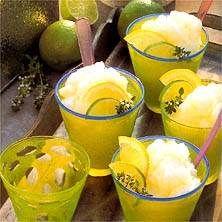 Sorbet på citron och lime