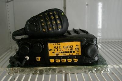 Ham Radio Cake.  Deliciously radio-active!!!