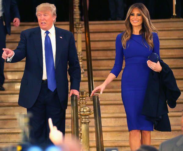 Vestito bianco signora trump vs hillary