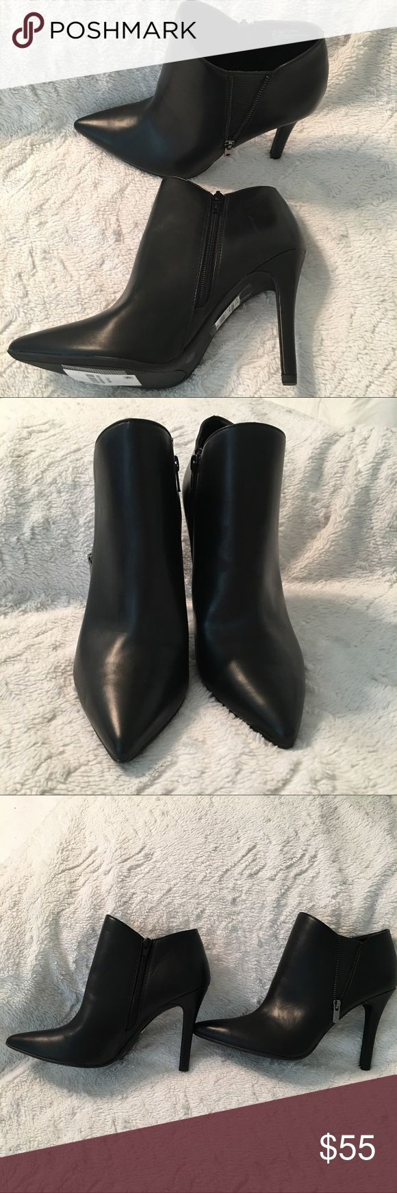 "Worthington Black Ankle Boots 10 M NWOB Item: Women's Ankle Boots with Zipper Fastening  Label:  Worthington Condition:  Brand new without box. Floor Demo. Size:  10 Width: Medium Heel: 3-1/4"" Color: Black Material:  Synthetic  Retail: $80  Good to Know:  Brand new without box. Floor Demo. May have been worn in store. Shoe Heel Height: High Boot Shaft Height: Low Sole Outer Surf Area: 100% Thermoplastic-Rubber Toe Type: Pointed Toe Worthington Shoes Ankle Boots & Booties"