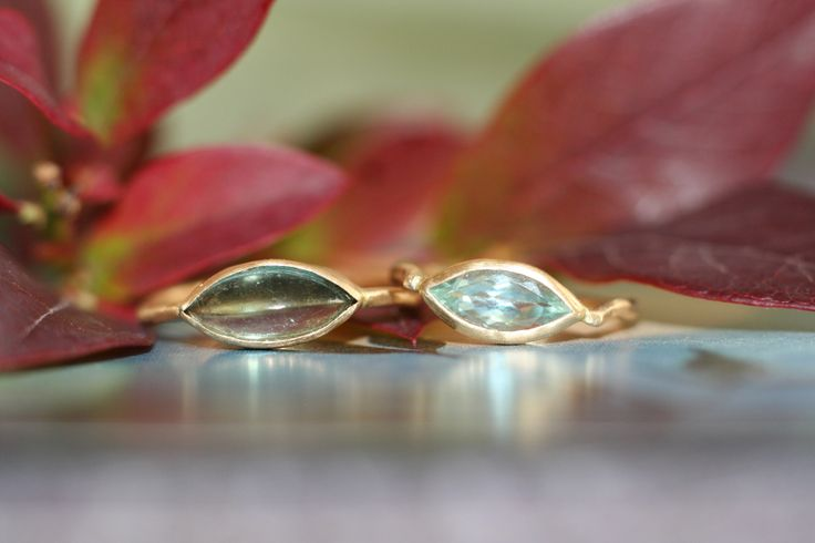 Colorful wedding rings for the bride