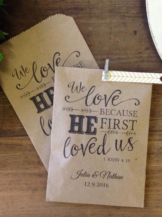 Christian Wedding Favor Utensil Or Bread Favor Bags Weddingfavor
