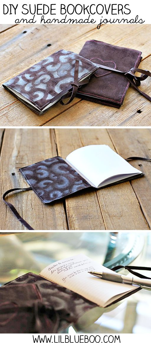 DIY Suede Covers and handmade journals by Ashley Hackshaw