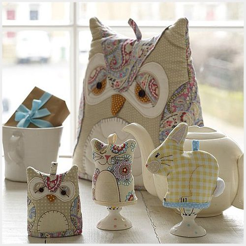 Owl Cosies by MyOwlBarn, via Flickr