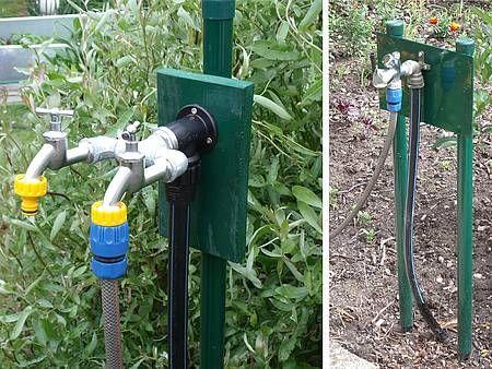 Wasseranschluss Im Garten Kaltwasserleitung Wasserleitung