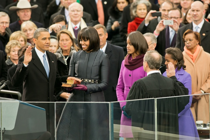 President Obama takes the oath of office during the Inaugural swearing-in ceremony at the U.S. Capitol in Washington, D.C., Jan. 21, 2013: http://wh.gov/inauguration #inaug2013