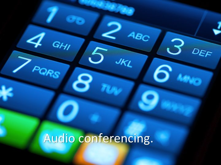 WisLine Anytime -- reservationless audio conferencing from your phone or mobile device -- up to 150 lines are available 24x7 in your personal account