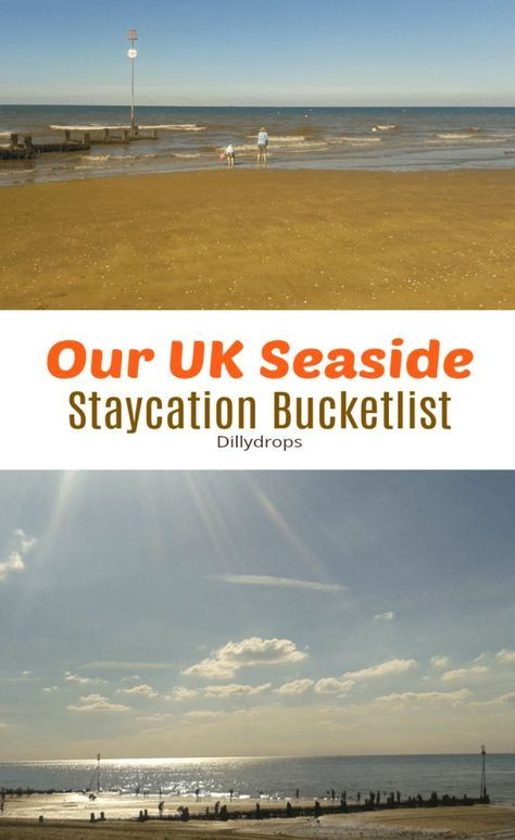 Our UK Seaside Staycation Bucket List including newquay, Cornwall, Blackpool, Skegness, Tenby, Wales and Cleethorpes. Seaside holidays. Holidays by the sea, UK. Summer holiday ideas. Staycations at the seaside.