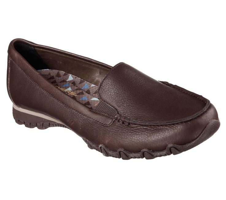 Everywhere you walk, comfort is sure to go with the SKECHERS Relaxed Fit®: Bikers - Lamb shoe. Soft smooth leather upper in a slip on dress casual comfort loafer with stitching and overlay accents. Memory Foam insole.