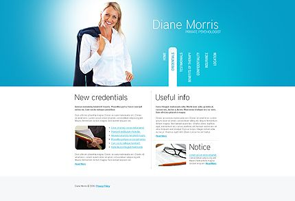 Diane Morris Website Templates by Hugo