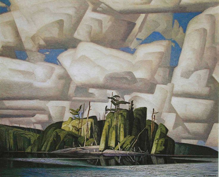 A.J. Casson - Summer Sky, Canadian Group of Seven