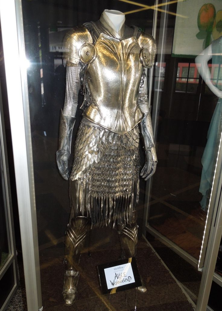 White Knight armour from Alice in Wonderland on display.