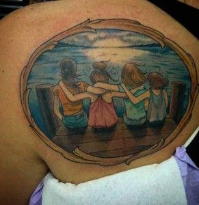 Sibling Sister Tattoos by David Palacious
