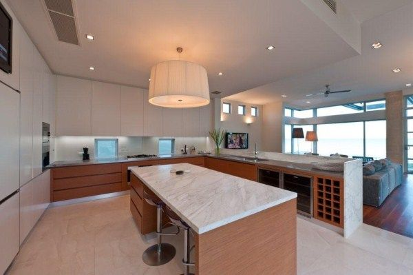 Award winning home in Timber Veneer Enviroven™ Teak Fineline. From New Age Veneers NAV. Cabinetmaker: Kitchen Renovators Designer: Plume Design HIA-CSR South Australian Home of the Year 2010 HIA-CSR South Australian Bathroom Project of the Year 2010