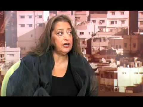Zaha Hadid discussing struggles in her architectural career.