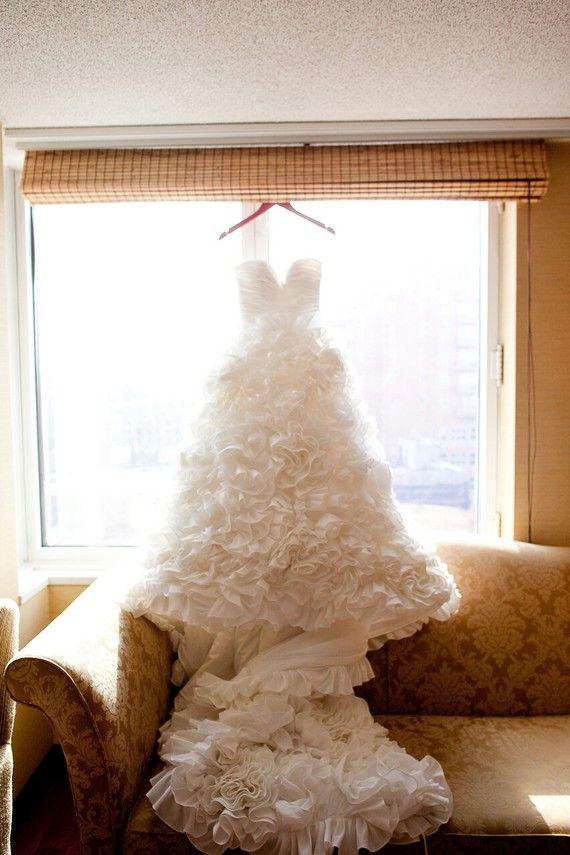 Wedding Dress Ruffle Skirt Sunday Rose by bridalblissdesigns