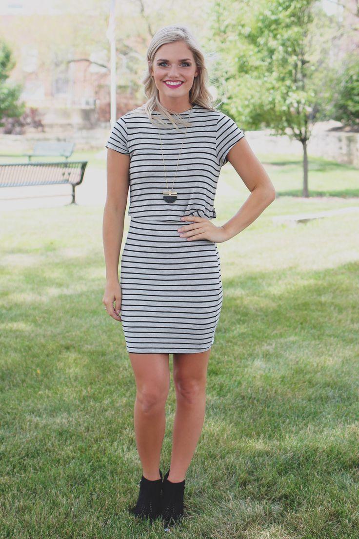 City Chic Dress - Grey