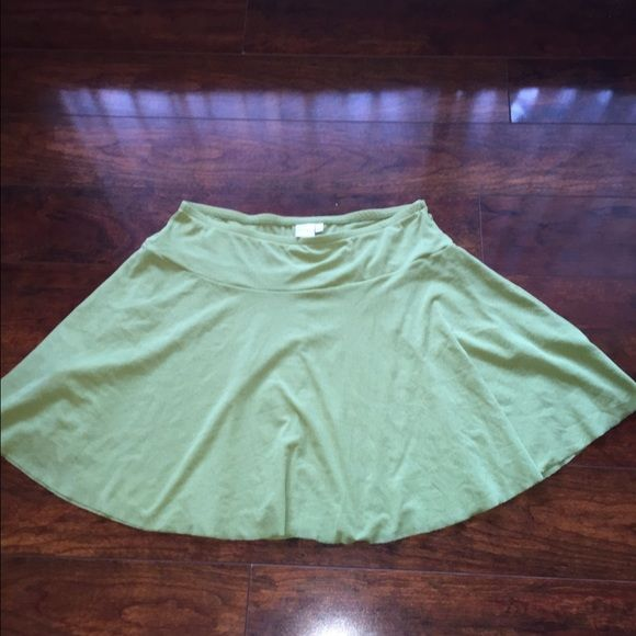 Light green skater skirt Light Green skater skirt by Sweet Pea. Has a mesh type of material to it. Last picture is the true color. Never Worn Sweet Pea Skirts Circle & Skater