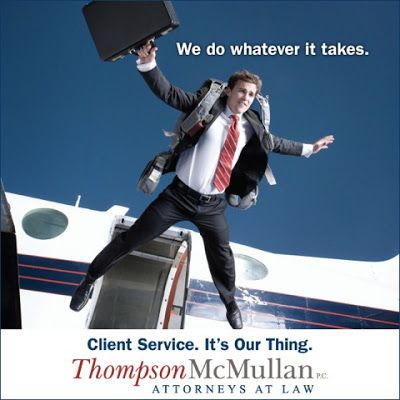 """""""Client Service. It's Our Thing."""" website 