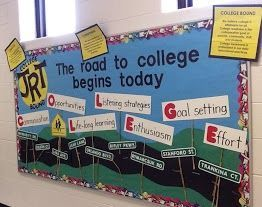 College-Bound Bulletin Boards | The road to success begins today?  Jr. High