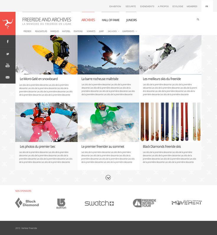 identité digitale | stratégie digitale | webdesign | Freeride archives association | Verbier #digitalidentity #digitalstrategy #webdesign #verbier #lausanne
