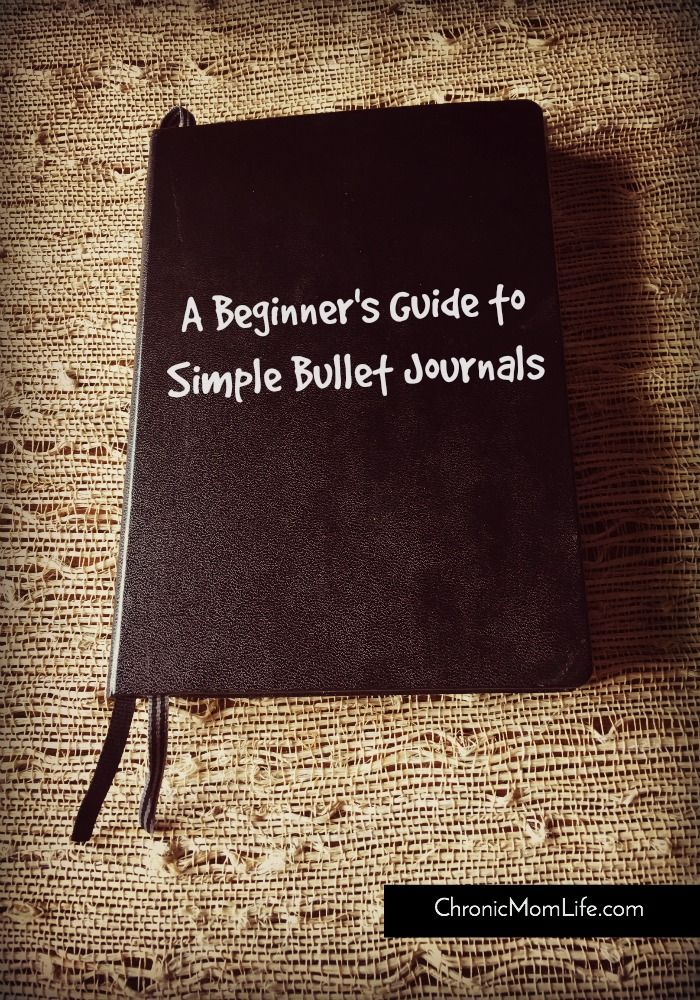 A beginner's guide to simple bullet journals Related Posts:A Beginner's Guide to Simple Bullet JournalsHow A Bullet Journal Helps Mental HealthMy Trim Healthy Mama Journal {Week of August 16}What's On My Reading List for Fall 2016A Beginner's Guide to Making Infused WaterHow to Find Balance While Living With Chronic Illness