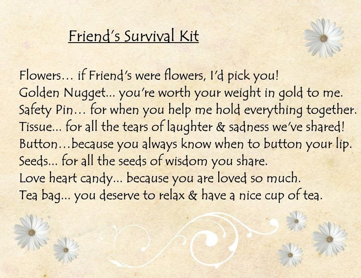 FRIEND SURVIVAL KIT GIFT CARD PINK: Amazon.co.uk: Kitchen & Home