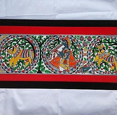 Madhubani Painting of Krishna