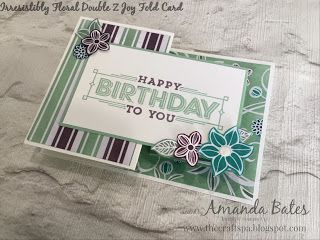 The Craft Spa - Stampin' Up! UK independent demonstrator : Irresistibly Floral Double Z Joy Fold Card