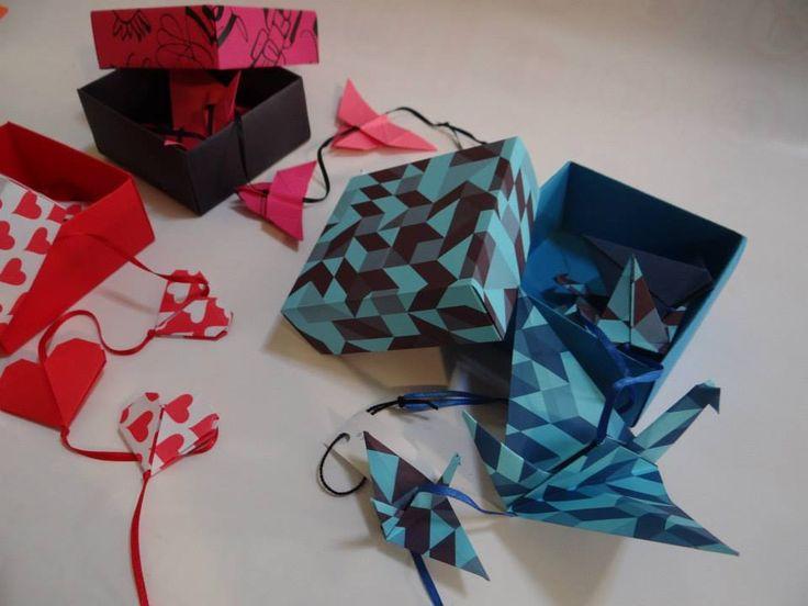Caja con mobil - Origami www.facebook.com/dobleZorigami