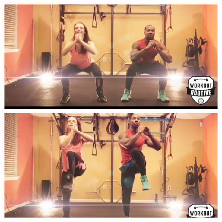 Squat & cross abs crunch